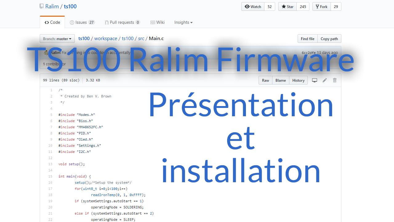 Ralim, un firmware alternatif pour le TS100 – Test et installation